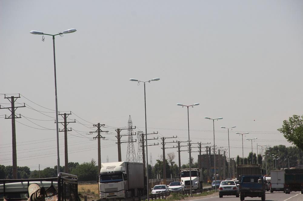 تامین روشنایی جاده احمداباد مستوفی